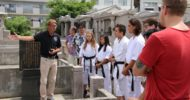 Okinawan Karate history tour for Shorei-ryu in Naha on 22th August