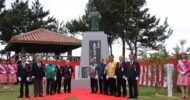 The opening ceremony of the statue of Kanbun Uechi on 21th April 2018